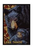 Lake Tahoe - Black Bears - Mosaic Posters by  Lantern Press