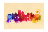 Albuquerque, New Mexico - Skyline Abstract Print by  Lantern Press
