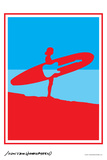 Surf Rock - John Van Hamersveld Poster Artwork Prints by  Lantern Press