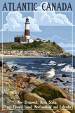 Atlantic Canada - Lighthouse Posters by  Lantern Press