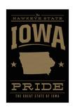 Iowa State Pride - Gold on Black Posters by  Lantern Press