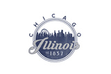 Chicago, Illinois - Skyline Seal (Blue) Posters by  Lantern Press