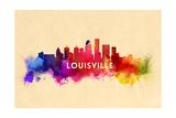 Louisville, Kentucky - Skyline Abstract Print by  Lantern Press