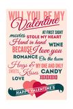 Be Mine - Valentines Day Typography Art by  Lantern Press