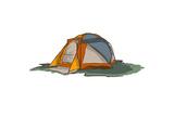 Tent - Icon Poster by  Lantern Press