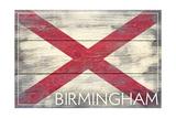 Birmingham, Alabama - State Flag - Barnwood Painting Print by  Lantern Press