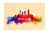 Dallas, Texas - Skyline Abstract Posters by  Lantern Press