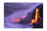 Hawaii Volcanoes National Park - Lava Flow Prints by  Lantern Press