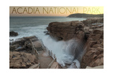 Acadia National Park, Maine - Thunder Hole Posters by  Lantern Press