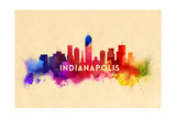 Indianapolis, Indiana - Skyline Abstract Posters by  Lantern Press