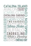 Catalina Island, California - Typography Prints by  Lantern Press