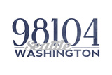 Seattle, Washington - 98104 Zip Code (Blue) Posters by  Lantern Press