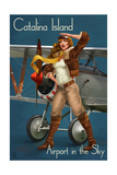 Catalina Island, California - Aviator Pinup Girl Prints by  Lantern Press
