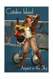 Catalina Island, California - Aviator Pinup Girl Prints by  Lantern Press