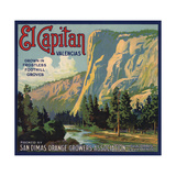 El Capitan Brand - San Dimas, California - Citrus Crate Label Poster by  Lantern Press