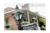 New Orleans, Louisiana - Building and Signpost Prints by  Lantern Press