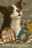 Mutt - Retro Mixed Nuts Ad Poster by  Lantern Press
