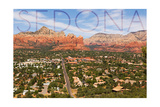 Sedona, Arizona - Mountain and Valley View Poster by  Lantern Press