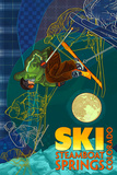 Steamboat Springs, Colorado - Timelapse Skier Posters by  Lantern Press