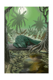 Alligator in Swamp Posters by  Lantern Press