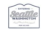 Seattle, Washington - Now Entering (Blue) Prints by  Lantern Press