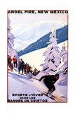Sangre de Cristos, New Mexico - Spectators Watching Skier - Artwork Print by  Lantern Press