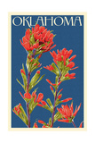 Oklahoma - Indian Paintbrush - Letterpress Prints by  Lantern Press