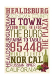Healdsburg, California - Typography Prints by  Lantern Press