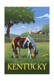 Kentucky - Horse in Field Posters by  Lantern Press