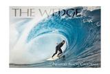 Newport Beach, California - Surfer in Perfect Wave Print by  Lantern Press