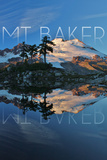 Mount Baker, Washington - Peak and Water Prints by  Lantern Press