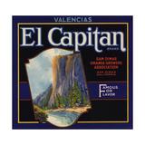 El Captain Brand - San Dimas, California - Citrus Crate Label Prints by  Lantern Press