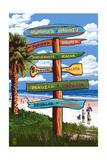 Honokaa, Hawaii - Destination Signpost Prints by  Lantern Press
