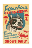 French Bulldog - Retro Flying Circus Ad Art by  Lantern Press