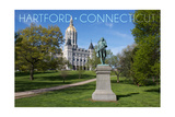 Hartford, Connecticut - Putnam Statue in Bushnell Park Posters by  Lantern Press