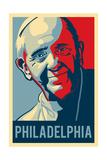 Philadelphia, Pennsylvania - Pope - Lithography Style Prints by  Lantern Press