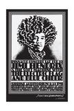 Jimi Hendrix Shrine Auditorium - Black and White - John Van Hamersveld Poster Artwork Poster af  Lantern Press