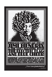 Jimi Hendrix Shrine Auditorium - Black and White - John Van Hamersveld Poster Artwork Prints by  Lantern Press