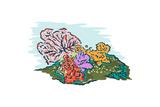 Coral - Icon Print by  Lantern Press