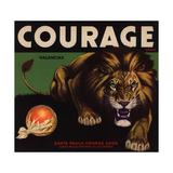 Courage Brand - Santa Paula, California - Citrus Crate Label Posters by  Lantern Press