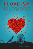 I Love You Wildwood, New Jersey Prints by  Lantern Press