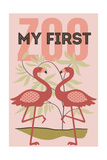 My First Zoo - Flamingo - Pink Poster by  Lantern Press