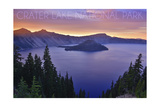 Crater Lake National Park, Oregon - Aerial View Prints by  Lantern Press