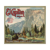 El Captain Brand - San Dimas, California - Citrus Crate Label Print by  Lantern Press