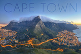 Cape Town, South Africa - Table Mountain Plakater af  Lantern Press