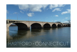Hartford, Connecticut - Bulkeley Bridge Prints by  Lantern Press
