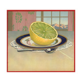 Grapefruit on Plate - Citrus Crate Label Prints by  Lantern Press
