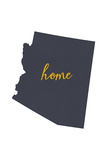 Arizona - Home State- White on Gray Poster by  Lantern Press