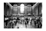 New York City, New York - Black and White Grand Central Station Posters by  Lantern Press