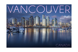 Vancouver, Canada - Marina and City Posters by  Lantern Press